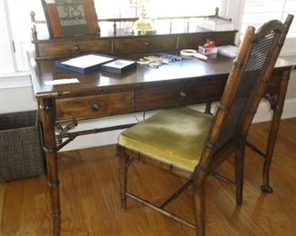 Faux bamboo desk and chair