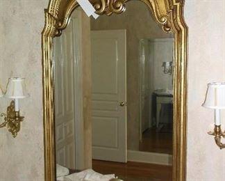 Gold tone mirror