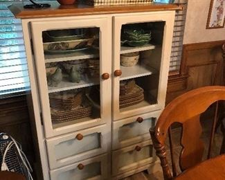 Farm Style Country Kitchen Hutch w/ Southern Decor