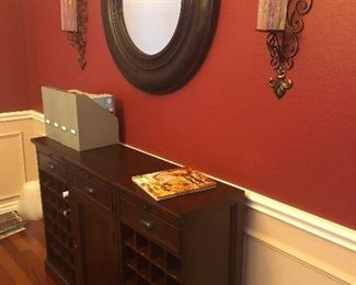 Wine cabinet, and home decor