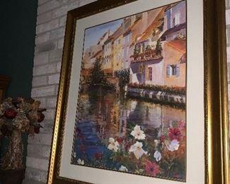 Framed Italian Villa wall decor