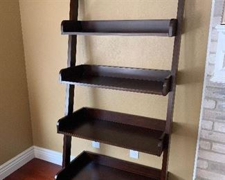 Ladder style leaning bookcase
