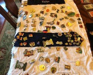Large collection of souvenir pins