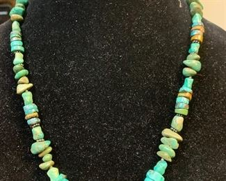 Vintage sterling silver Barse necklace with turquoise