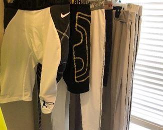 Under Armour, Nike sliders and baseball pants.