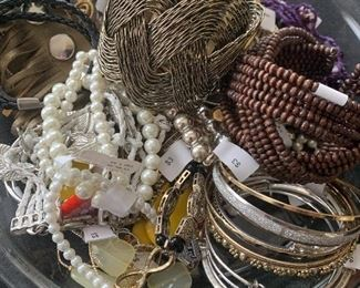 Large selection of assorted costume jewelry
