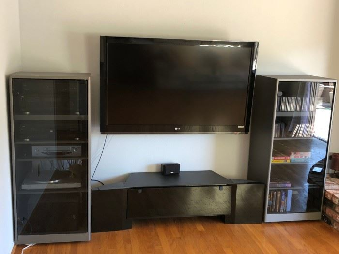TV and stereo system