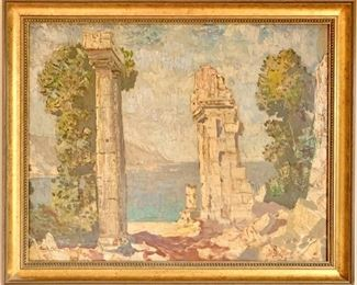 Oil Painting of Classic Ruins