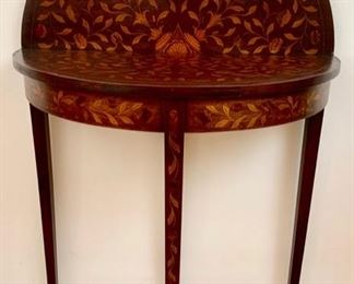 Antique 19th C. English Double-sided Inlaid Card Table