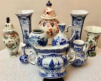 Vintage and Antique Delft Pottery
