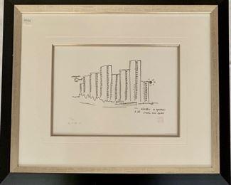 Steel And Glass by John Lennon (British 1940-1980), Serigraph, Studio Signed Yoko Ono
