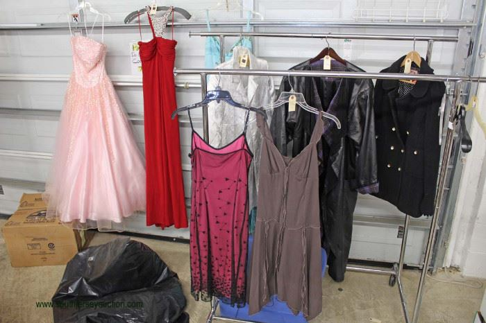 Selection of Designer Dresses and Jackets some VINTAGE  Located Inside – Auction Estimate $10-$50