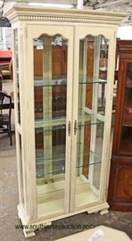 Contemporary White 2 Door Display Cabinet  Located Inside – Auction Estimate $200-$400