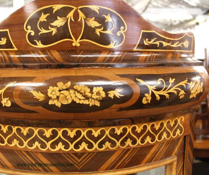 Mahogany Inlaid and Banded French Style Corner Cabinet  Located Inside – Auction Estimate $200-$400