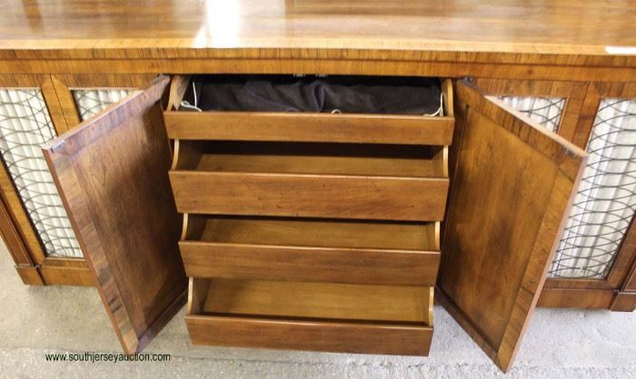 "Burl Mahogany ""John Widdicomb Furniture"" Fitted Interior Buffet  Located Inside – Auction Estimate $100-$300"