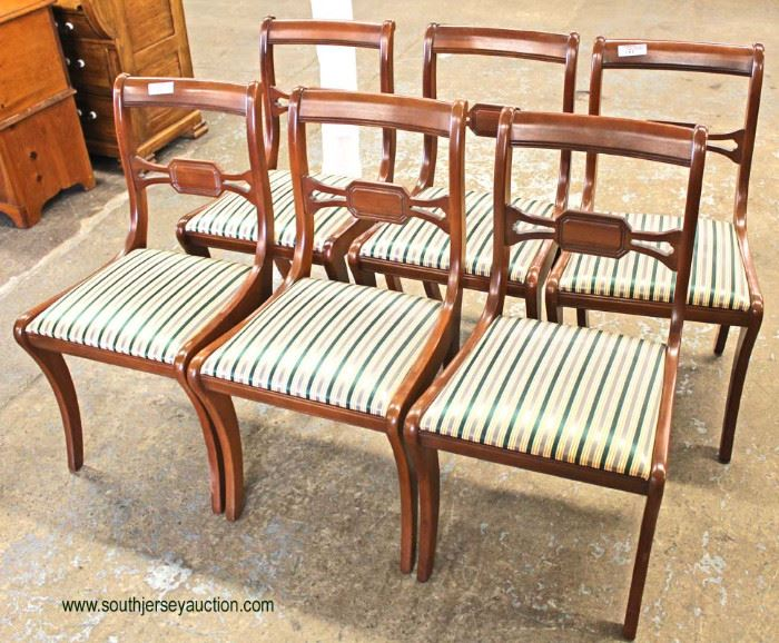 7 Piece Mahogany Dining Room Table with 6 Chairs  Located Inside – Auction Estimate $200-$400