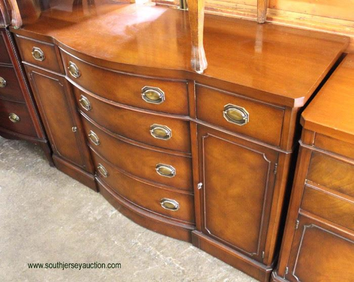 One of Several Mahogany Bow Front Sideboards  Located Inside – Auction Estimate $100-$300