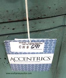 "NEW Contemporary ""Accentrics"" Decorator Console  Located Inside – Auction Estimate $100-$300"