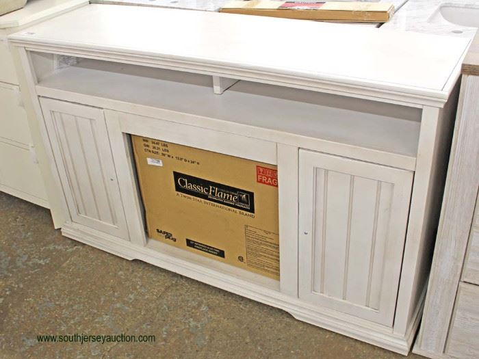 """NEW Contemporary """"Classic Flame"""" Console with Fireplace Place Insert  Located Inside – Auction Estimate $200-$400"""