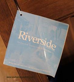 "NEW Contemporary Mahogany Finish ""Riverside"" Slant Desk Bookshelf  Located Inside – Auction Estimate $100-$200"