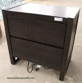 """NEW Contemporary """"Legends Furniture"""" 2 Drawer Night Stand with Media Charger  Located Inside – Auction Estimate $100-$200"""