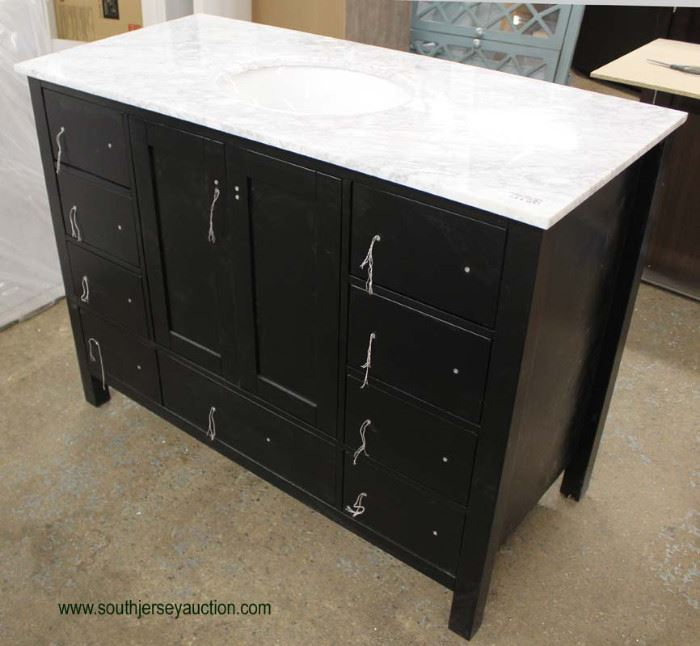 """NEW Contemporary 48"""" Marble Top Bathroom Vanity  Located Inside – Auction Estimate $200-$400"""