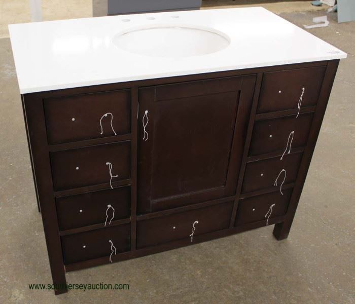 """NEW Contemporary 42"""" Marble Top Bathroom Vanity  Located Inside – Auction Estimate $200-$400"""