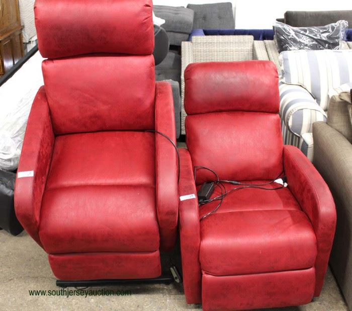 Red Leather Style Lift Chairs – maybe offered separately  Located Inside – Auction Estimate $200-$400