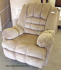 Upholstered Tan Recliner  Located Inside – Auction Estimate $100-$200