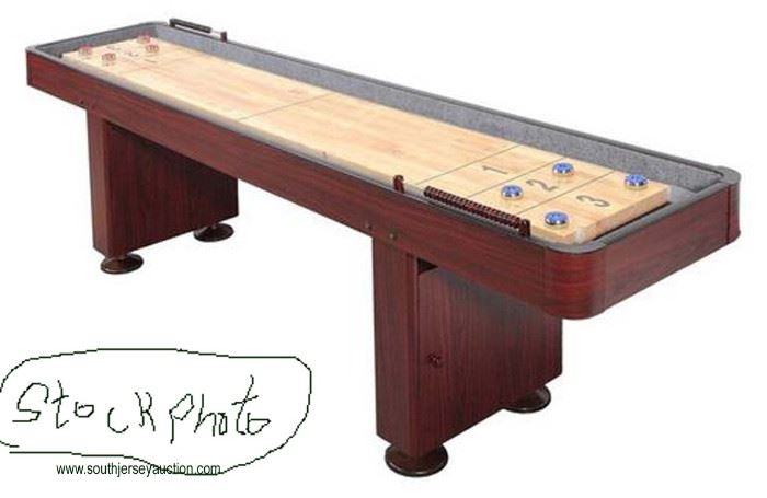 Challenger Shuffleboard Table with Storage Cabinets  — Still in the Box —  Located Inside – Auction Estimate $
