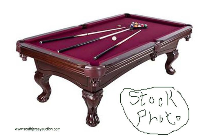 Mahogany Augusta 8 ft Non Slate Pool Table  — Still in the Box —  Located Inside – Auction Estimate $