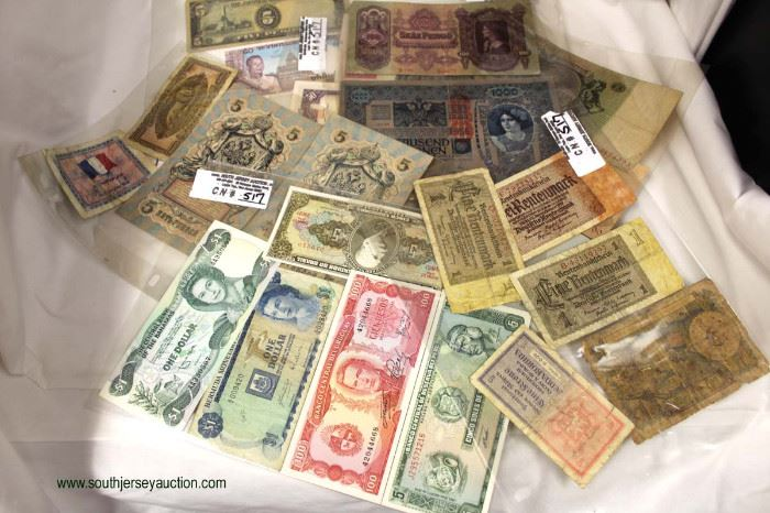 Selection of Foreign Money  Located Inside – Auction Estimate $5-$10