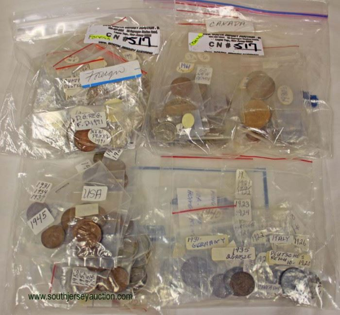 Selection of U.S. Pennies and Foreign Coins  Located Inside – Auction Estimate $5-$10