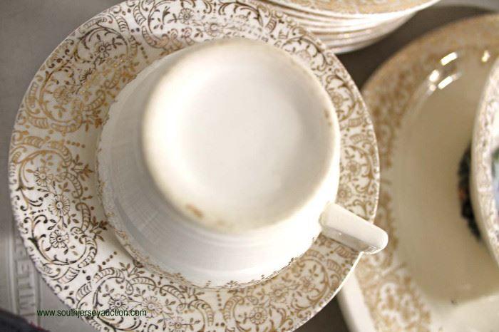 "51 Piece ""Chantilly"" 22 Karat Sebring Pottery Company Dinnerware Set  Located Inside – Auction Estimate $50-$100"