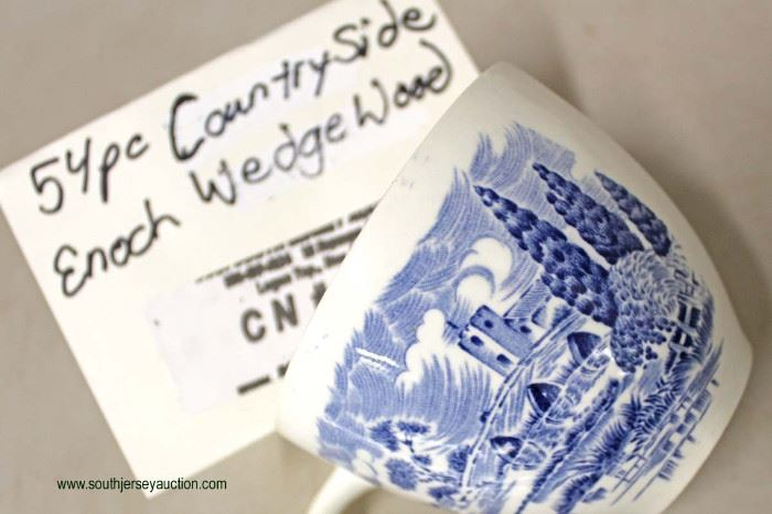 """54 Piece """"Country Side"""" Enoch Wedgewood Dinnerware Set  Located Inside – Auction Estimate $50-$100"""