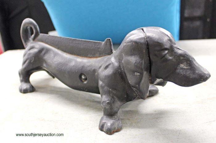 Cast Iron Dog Door Stopper  Located Inside – Auction Estimate $30-$60