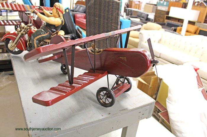 Decorator Wood Air Plane  Located Inside – Auction Estimate $20-$50