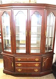 """9 Piece """"American Drew Furniture"""" SOLID Cherry Queen Anne Dining Room Set with 2 Leaves  Auction Estimate $300-$600 – Located Inside"""