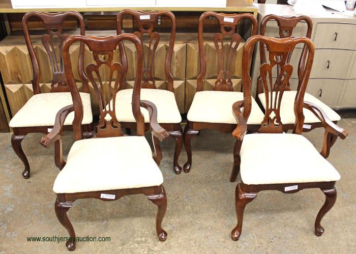 """9 Piece """"American Drew Furniture"""" SOLID Cherry Queen Anne Dining Room Set with 2 Leaves  Auction Estimate $300-$600 – Located Inside     9 Piece """"American Drew Furniture"""" SOLID Cherry Queen Anne Dining Room Set with 2 Leaves  Auction Estimate $300-$600 – Located Inside"""