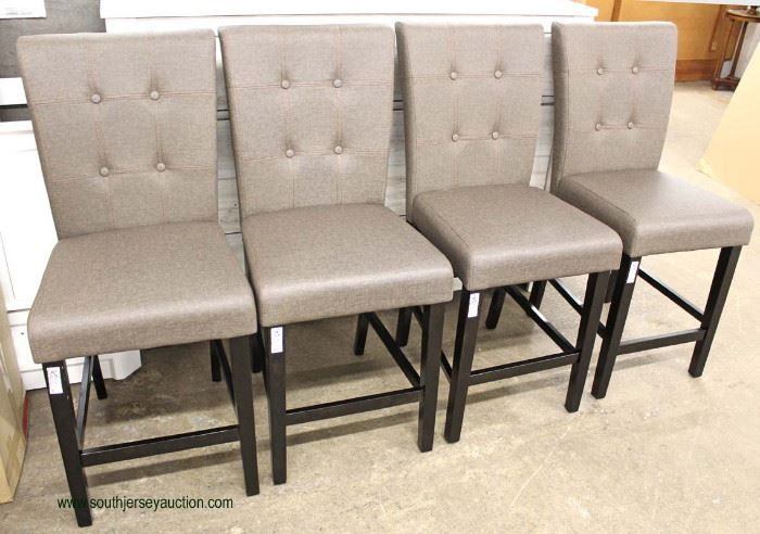 """Set of 4 NEW """"Best Quality Furniture"""" Upholstered Button Tufted Kitchen Chairs  Auction Estimate $200-$400 – Located Inside"""