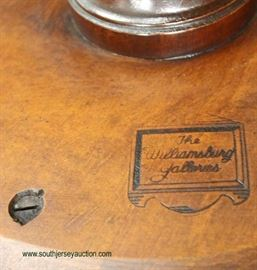 """SOLID Mahogany """"The Williamsburg Galleries"""" Deep Dish Table  Auction Estimate $100-$300 – Located Inside"""