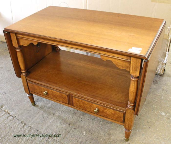 """Mahogany """"Drexel Furniture"""" French Provincial One Drawer Drop Side Server  Auction Estimate $100-$300 – Located Inside"""