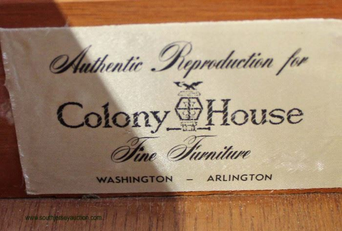 """SOLID Cherry Bracket Foot """"Colony House Fine Furniture"""" Slant Front Desk  Auction Estimate $200-$400 – Located Inside"""