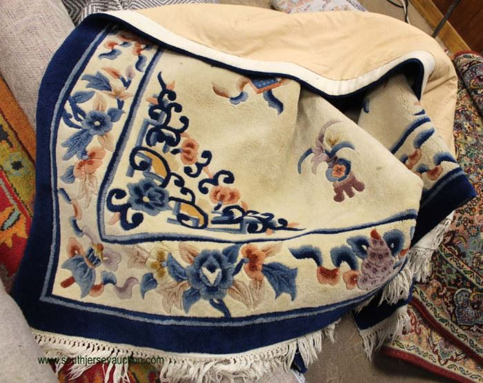 Chen Chu Tiensin Series Handmade Wool Chinese Rug B2008 5.6' x 8.6' Rug  Located Inside – Auction Estimate $