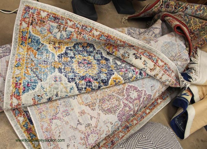NEW Hillsby Blue / Orange LARGE Rug  Located Inside – Auction Estimate $250-
