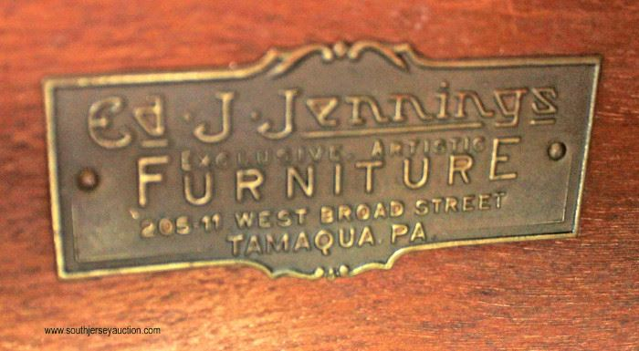 "7 Piece ""Ed J. Jennings Furniture"" Junior Art Deco Paint Decorated Dining Room Set  Auction Estimate $300-$600 – Located Inside"