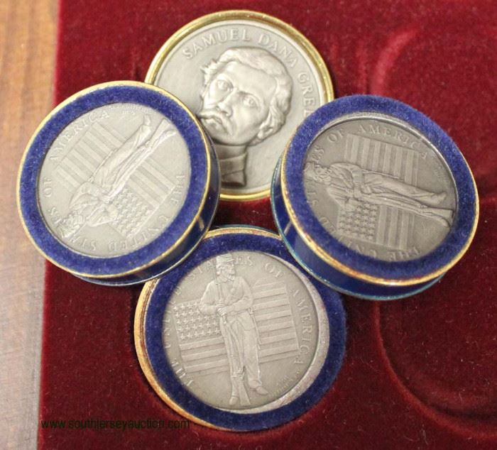 """The Franklin Mint"" Civil War Checkers Set  Auction Estimate $200-$400 – Located Inside"
