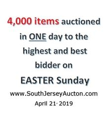 4000 auction Easter Sunday