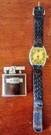 vintage lighter and watch  *DINING ROOM*
