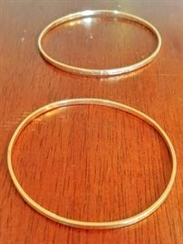 14k gold bangle bracelets  *DINING ROOM*